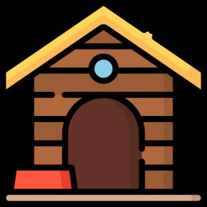 Лежаки, домики и вальеры