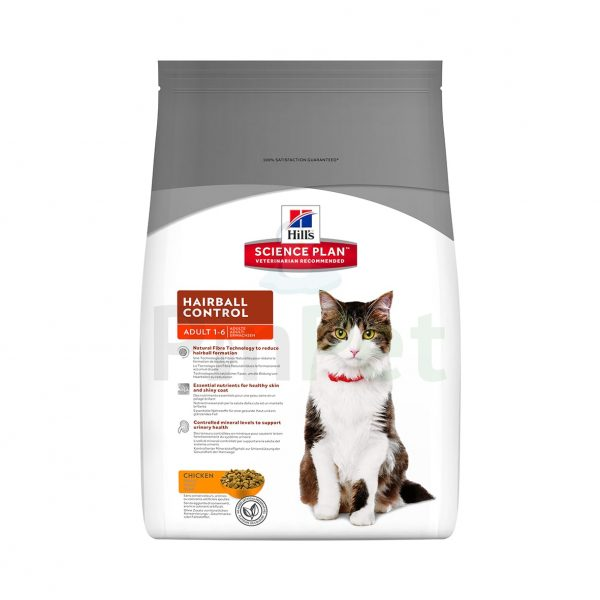 hills science plan adult hairball control with chicken min