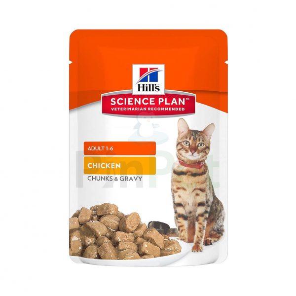 vlazhnyj korm dlja koshek hills science plan feline adult with chicken